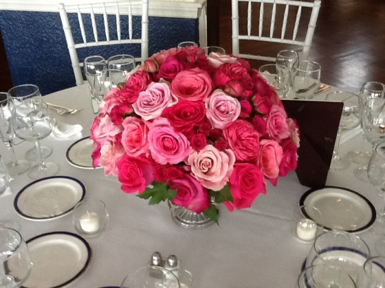 All roses centerpiece