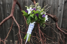 White and purple bouquet