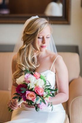 Wedding bouquet-hand tied 1/2 satin wrap