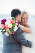 wedding boquet, hand ties 1/2 satin wrap