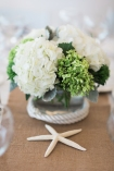 Nautical themed hydrangea arrangements