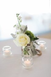 Centerpiece small for high top table.