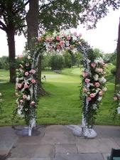 Outside flower arch