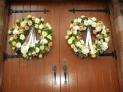 Wedding ceremony wreaths