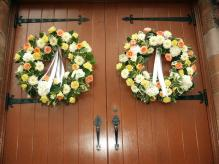 Wedding ceremony wreaths