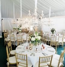 Elegant, classic white wedding