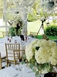 Romantic wedding centerpieces