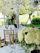 Romantic wedding centerpieces