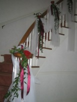 Railing at wedding ceremony