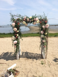 Stunning wedding arbor